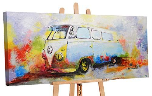 YS Оfrecer hasta 30 11 Art | Cuadro Pintado a Mano Nostalgia | Cuadro Moderno acrilico | 115x50 cm | Lienzo Pintado a Mano | Cuadros Dormitories | unico | Multicolor