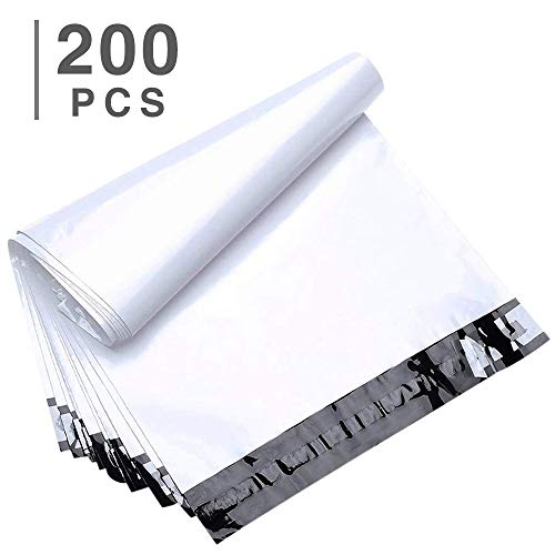 FU Global 200pcs 12x15.5 Poly Mailers Shipping Envelops Boutique Custom Bags Enhanced Durability Multipurpose Envelopes Keep Items Safe & ()