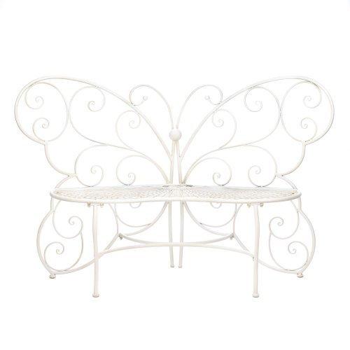 Cheap White Butterfly Garden Bench