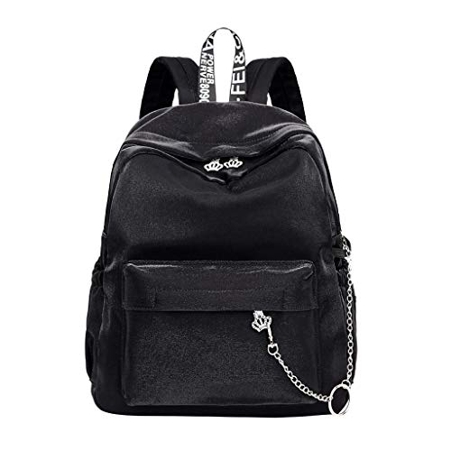 YEZIJIN Women Ladies Fashion Crystal Crown Travel School Shoulder Handbag Backpack Bags Under 20 ()