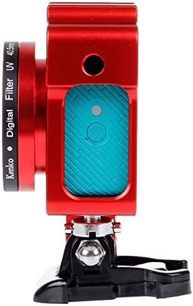 Metal Case Housing Shell Metal Protective Frame Cage with Basic Mount Color : Red UV Lens Filter for Xiaoyi Screw Black