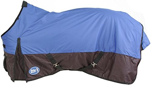 (Tough-1 1200 Denier Heavy Waterproof Winter Turnout Horse Blanket, Blue, 69