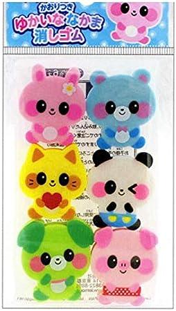 Set 6 Gomas de borrar kawaii, Animales bebé, de Japón: Amazon.es: Juguetes y juegos