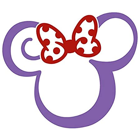 Minnie Mouse Two Color Tribal Swirl Tattoo Vinyl Decal Sticker (MM-11) (4 x 3.4, White)