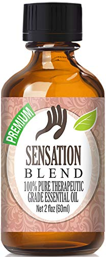 Sensation Blend 100% Pure, Best Therapeutic Grade Essential Oil - 60ml - Bergamot, Coriander, Geranium, Lavender and Ylang Ylang - Sensations Scented Shampoo
