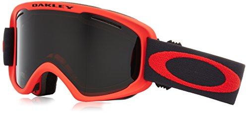 Oakley O-Frame 2.0 XM Snow Goggles, Coral Iron Frame, Dark Grey Lens, - Ski Oakley Womens Goggles
