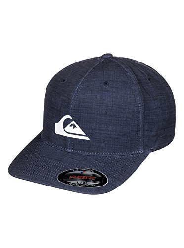 Quiksilver Stretch Hat (Quiksilver Mens Amphibs Stretch - Flexfit Cap Flexfit Hat Blue L/Xl)