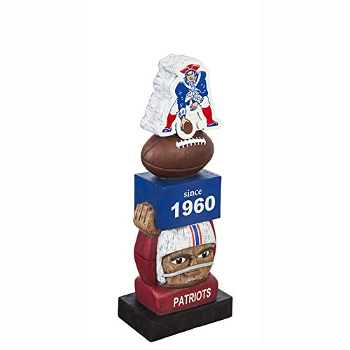 - Team Sports America New England Patriots Vintage NFL Tiki Totem Statue