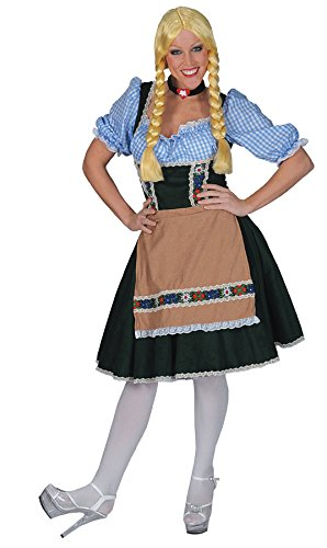 Oktoberfest Fraulein Costumes For Adults (Salzberg Dress W Shirt Adult Large)
