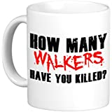 HOW MANY WALKER HAVE YOU KILLED. The Walking Dead Inspired Premium Mugs. Free delivery included. by Eat Sleep Shop Repeat
