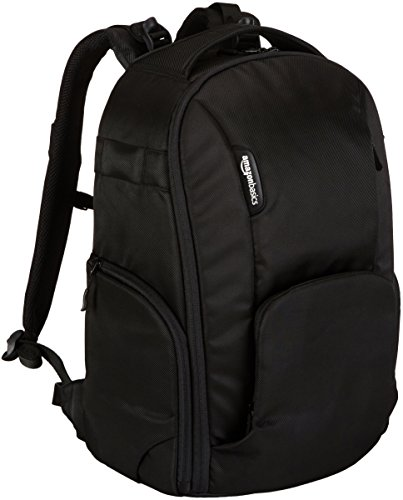 AmazonBasics DSLR Camera and Laptop Backpack Bag - 19 x 9 x 14 Inches, Black
