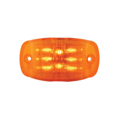 - Grand General 76250 Amber Rectangular Camel Back Wide Angle 14-LED Marker and Clearance Sealed Light