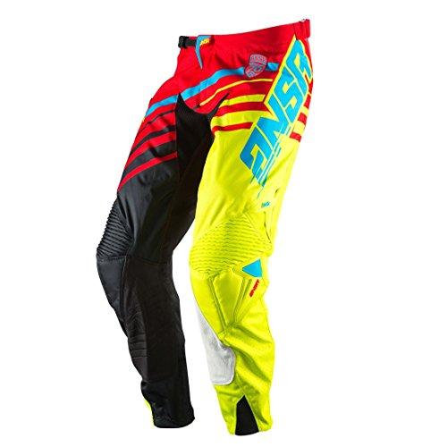 Answer Racing A17 Alpha Pants Red/Acid/Black 36