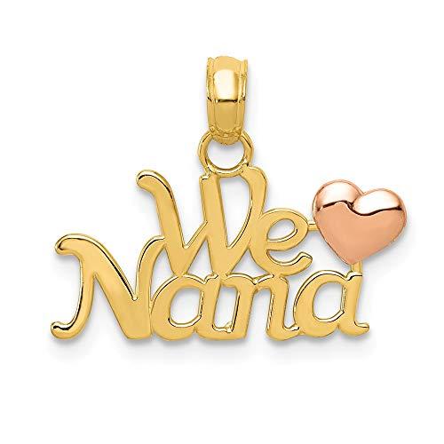 Rhodium Boy Charm - 14k Two-Tone We Love Nana Charm