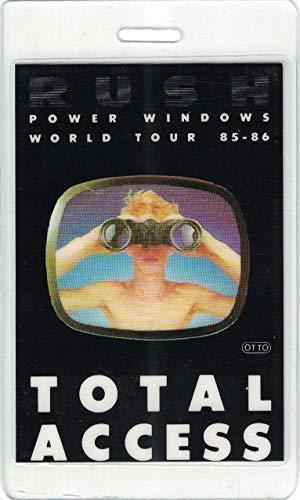 "Rush Laminate Backstage Pass Power Windows World Tour '85-'86""Total Access"""
