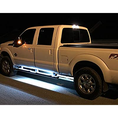 iJDMTOY (2) 40-Inch 63-SMD Flexible LED Running Board/Side Step Lighting Kit Compatible With Ford GMC Chevy Dodge Toyota Nissan Honda Truck SUV, Xenon White: Automotive