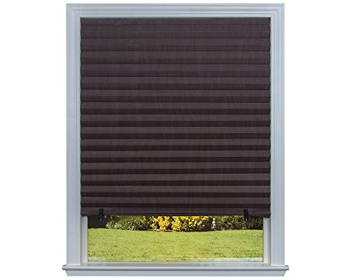 Redi Shade 1614593M Quick Fix Room Darkening Pleated Paper Shade, Chocolate, 48' x 72', 6 Pack
