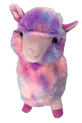 Llama Plush Stuffed Toy 12 Alpaca Tie Dye Rainbow