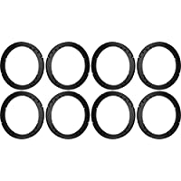 5.25 5 1/4 Speaker Spacers Depth Extender Extending Rings - 1/2 thick - ID: 4 3/4 OD: 5 3/4 - 4 Pair - SSK525K - Stackable - Perfect For Framing Fiberglass Enclosures