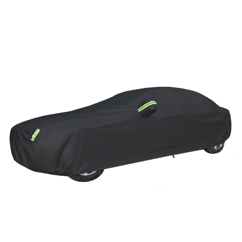 Car cover Compatible With Tesla Model X Car Cover Waterproof And Breathable Car Tarpaulin Anti-UV Dust-proof Warning Reflective Strip Color : Built-in lint