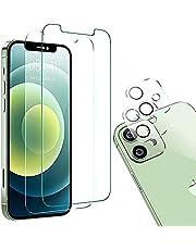 TADMA Folia ze szkła hartowanego 9D kompatybilna z iPhone 12 mini | kuloodporne szkło odporne na zarysowania + folia ochronna 9H, przezroczysta + folia do aparatu