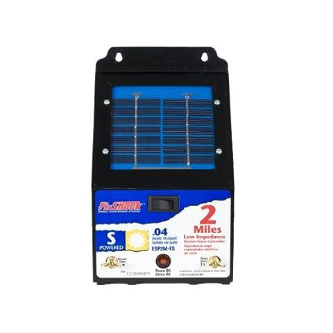 Fi-Shock 2 Mile Solar Powered Low Impedance Pet Deterrent Fence Energizer ESP2M-FS - Fence Charger