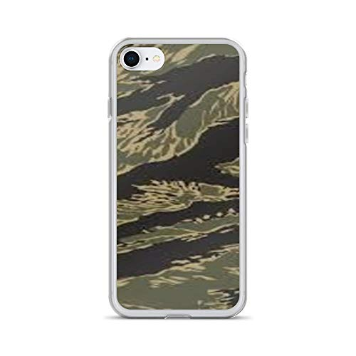 Vintage Vietnam Era Tiger - Savage Apparel & Gifts Vintage Vietnam Era Tiger Stripe Camo Pattern Phone case (iPhone 7/8)