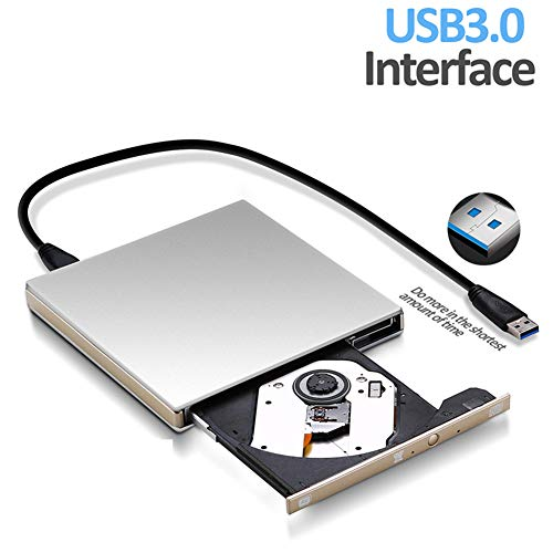 GMACCE Laptop DVD Drive USB 3.0 External Optical Drive CD ROM DVD+/-RW Burner Writer Portable for Notebook Computer Apple MacBook