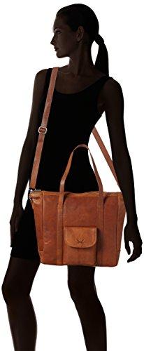 cognac Sansibar Bolsos Mujer Maletín Bag Shopper Marrón EqxnpwvqYr