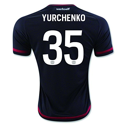 Black #35 Yurchenko Home Match Football Soccer Adult Jersey 2015-16 (Cup World Ukraine)
