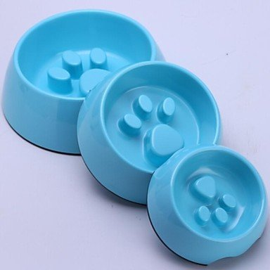 Quick shopping Middle Size Melamina Anti -Gulping Bowl  ly Paw Style for Pet Dogs (assorted Colors),Yellow, M