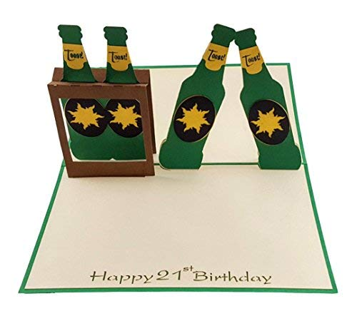 IGifts And Cards Hoppy 21st Beer Birthday 3D Pop Up Card