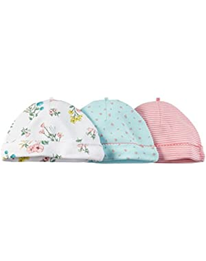 Baby Girls' 3 Pack Caps (Baby)