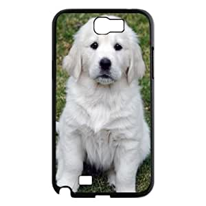 Qxhu Cute white dog Hard Plastic Back Protective case for Samsung Galaxy Note2 N7100