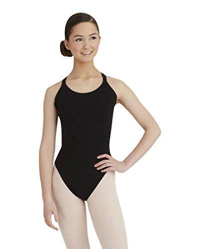 Capezio Women's Double-Strap Camisole Leotard, Black, X-Small