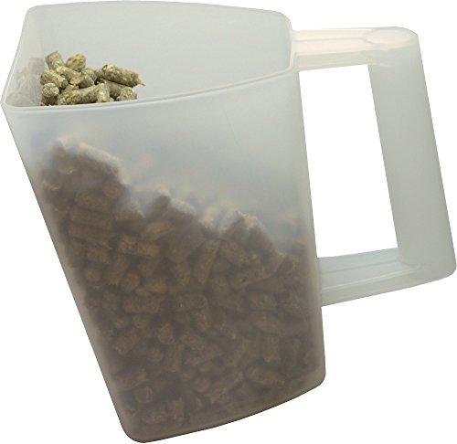 Futterschaufel skaliert, Messbecher mit Henkel, 2 Liter in versch. Farben, Farbe:transparent