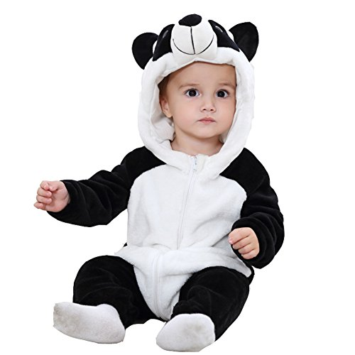 Engerla Baby Unisex Toddler Jumpsuit Winter Warm Romper Animal Pajamas(90CM)