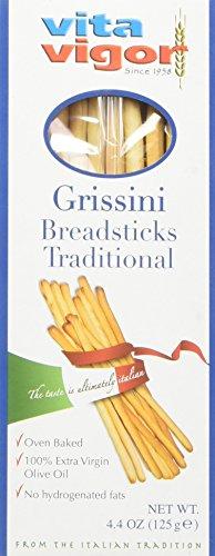 Vita Vigor Traditional Grissini Breadsticks, 4.4-Ounce