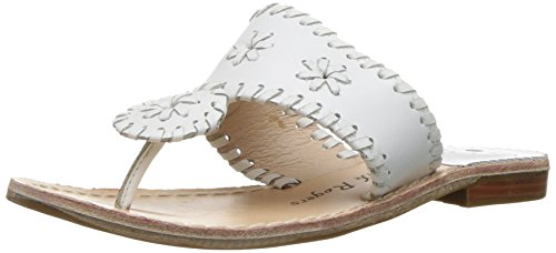 Image of Jack Rogers Girls' Miss Palm Beach II Sandal, White, 12 M US Little Kid