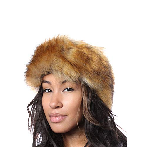 para mujer Faux Fox Fur Brown Accessoryo Size One Diadema HUO1cWqS