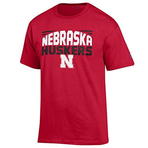 NCAA Champion Men's Push Ahead Short sleeve T-Shirt Nebraska Cornhuskers Large