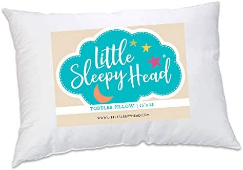 Little Sleepy Head Toddler Pillow 13x18, Made in USA, Baby Pillow for Sleeping