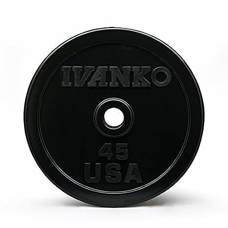 Ivanko - Juego de 240 LB. Goma Encased parachoques olímpico placa paquete: Amazon.es: Deportes y aire libre