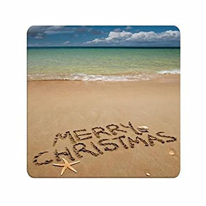 designed merry christmas beach theme girls vintage durable mouse pads - Merry Christmas Beach Images