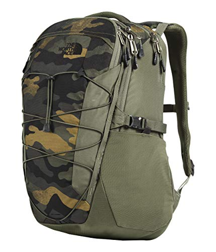 - The North Face Borealis, Burnt Olive Green Waxed Camo Print/Burnt Olive Green, OS