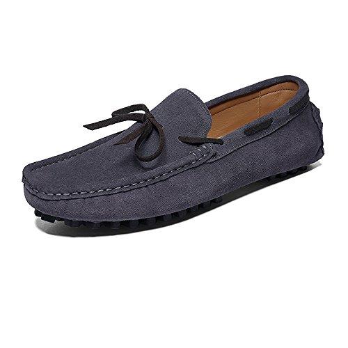 uomo Hongjun vera Mocassini Mocassini shoes 2018 Grigio uomo in eleganti superiori guida pelle da Mocassini da gwHFYRwq