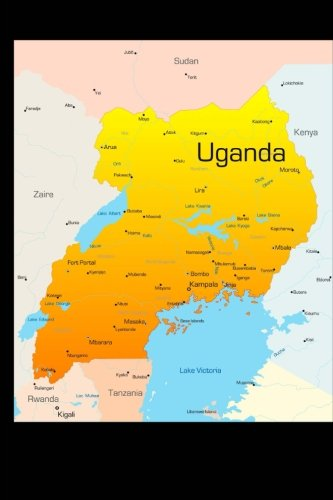Map of Uganda Journal: 150 page lined notebook/diary