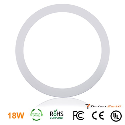 Techno Earth 18W Dimmable Round Ceiling Panel Led Ultra Thin Glare Light Kits with Led Driver AC 85-265V - Natural - Eyes Bright Wiki