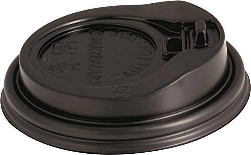 Renown GIDDS2-2472197 1000 Per Case 90mm Hot Cup Lids, 10 to 20 oz, Black