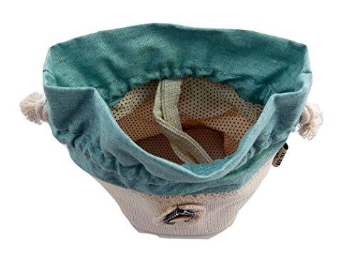 ZakkaDesign Kordelzug quadratische Grundfläche Zubehör Tasche Tasche mit Trageriemen - grün